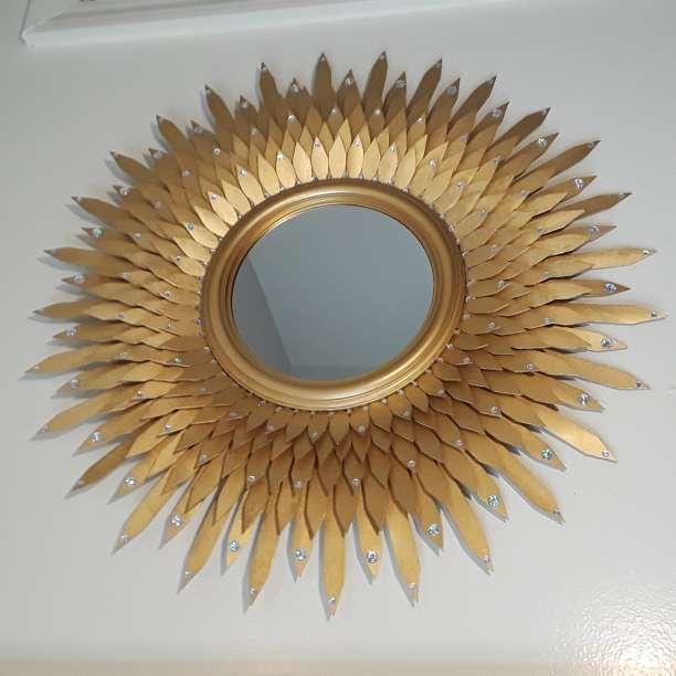 Imagen producto Golden decorative mirror  4