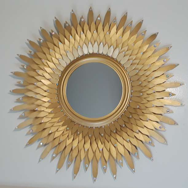Imagen producto Golden decorative mirror  3
