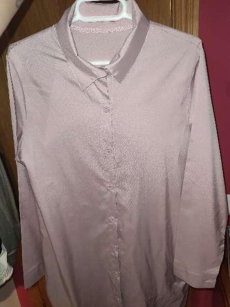 Imagen Blusa larga rosa palo nueva