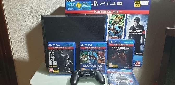 Imagen PlayStation 4 Pro + PlayStation Hits