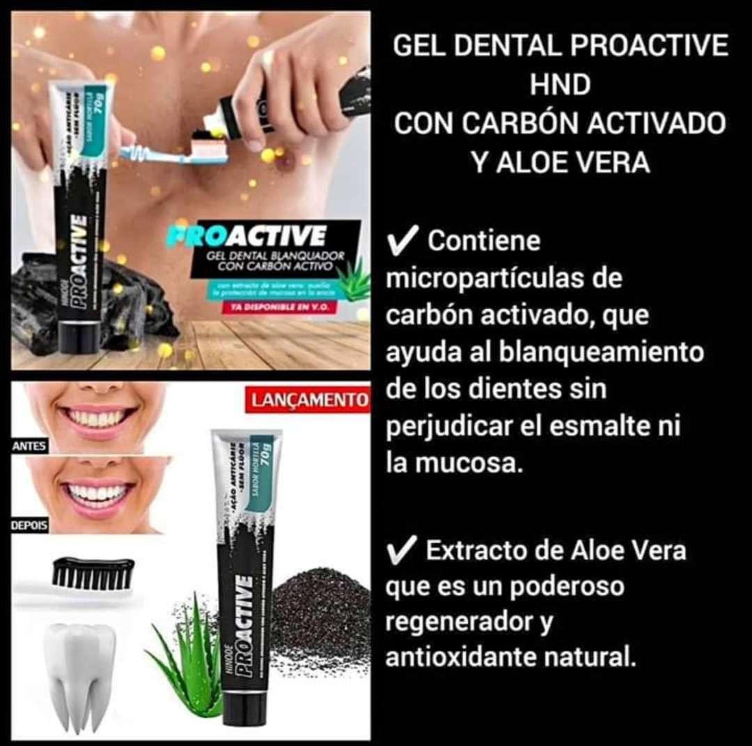 Imagen Proactive gel dental en carbón activo