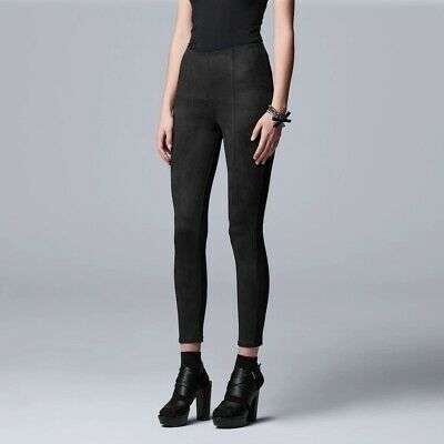 Imagen Simply Vera Vera Wang High Rise Faux Suede Skimmer pantalon mujer