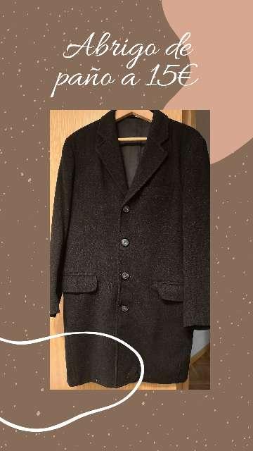 Imagen Abrigo hombre lana a 15€