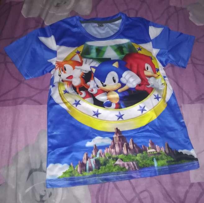Imagen Camiseta 3D Sonic The Hedgehog