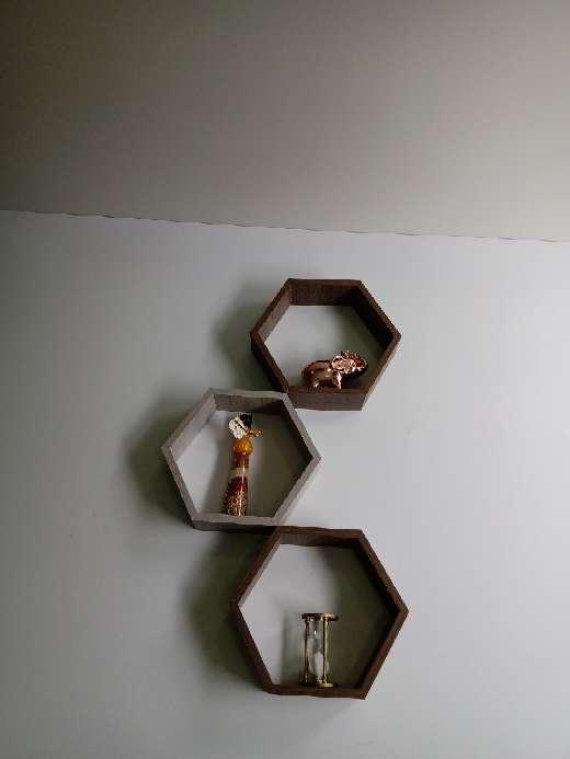 Imagen Repisas Hexagonales x 3
