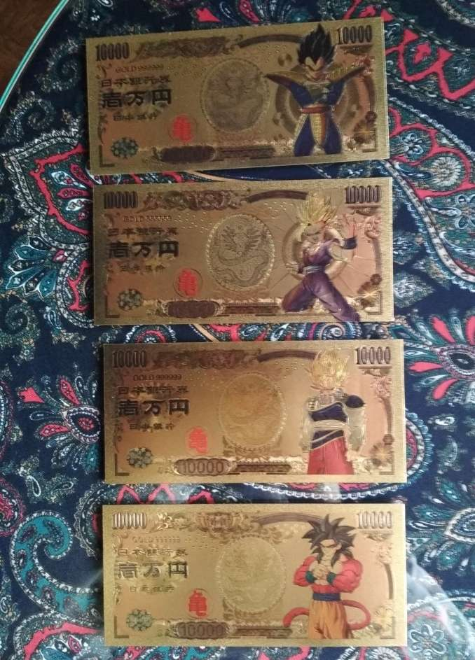Imagen producto Pack Billetes colección Dragon Ball 2