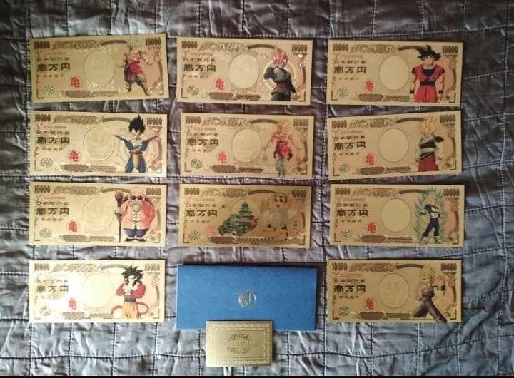 Imagen Pack 11 Billetes colección Dragon Ball