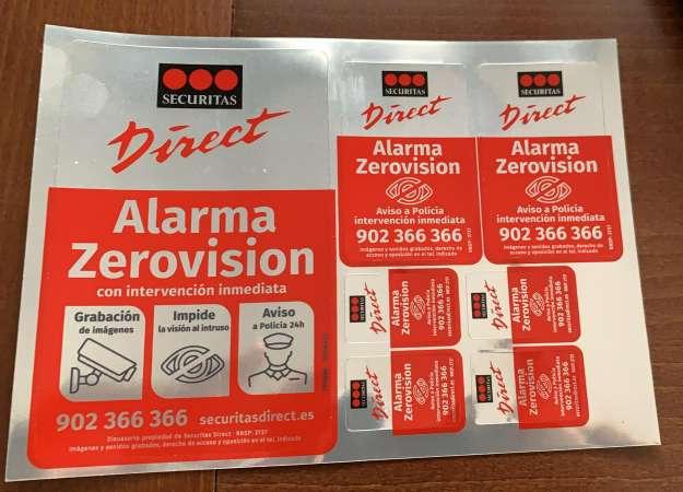 Imagen adhesivo alarma securitas