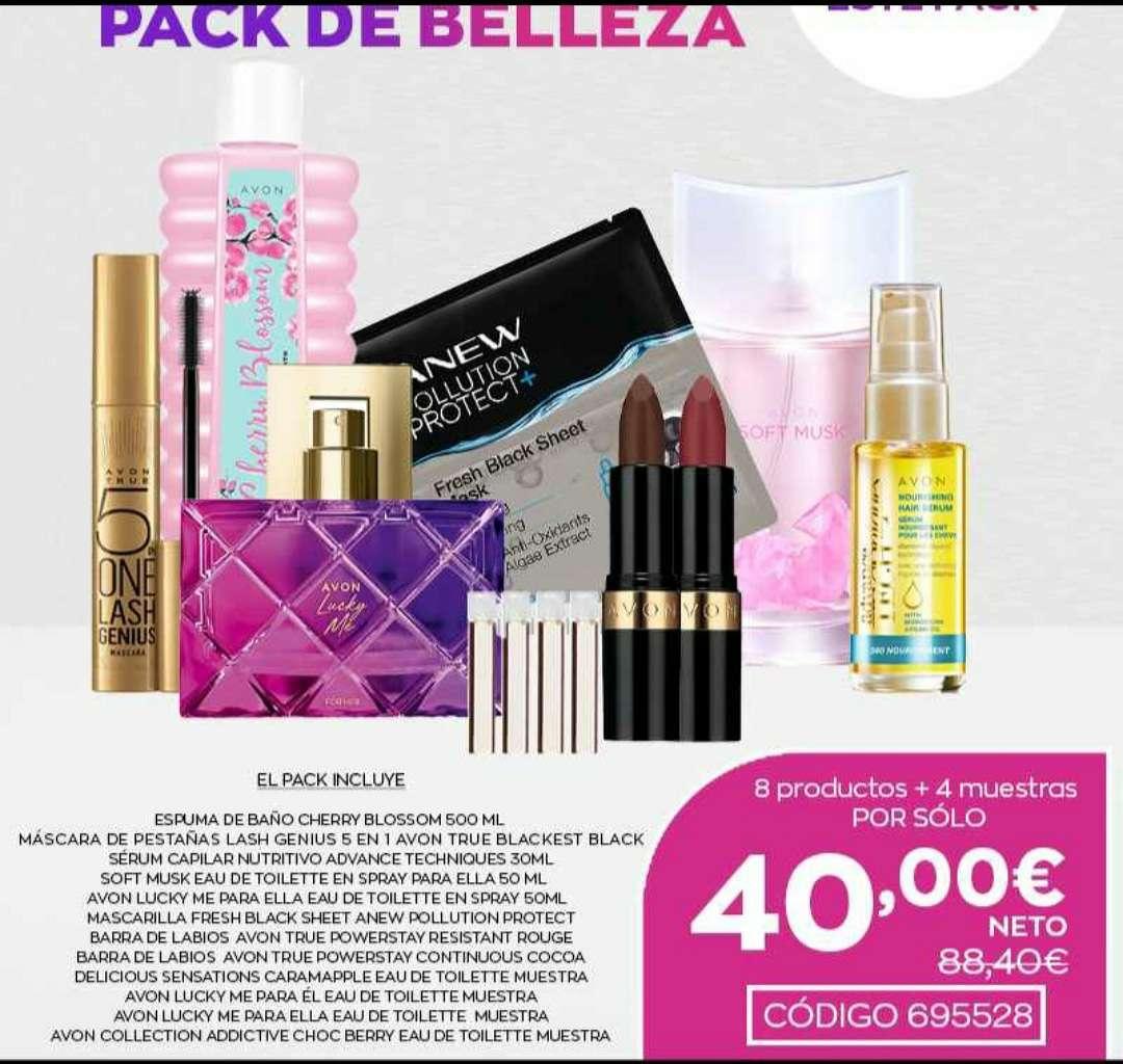 Imagen paquete 8 productos + 4 muestras de belleza