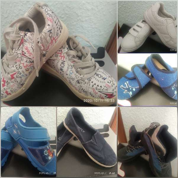 Imagen zapatos varios niño