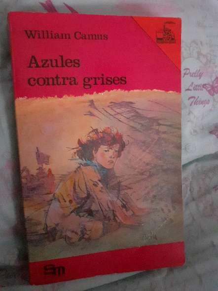Imagen libro de lectura azules contra grises