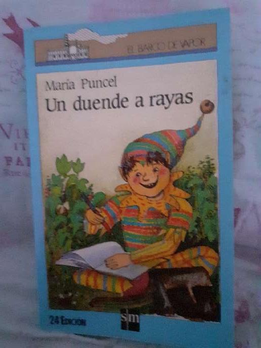 Imagen Libro de lectura  un duende a rayas