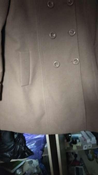 Imagen abrigo de paño color crema