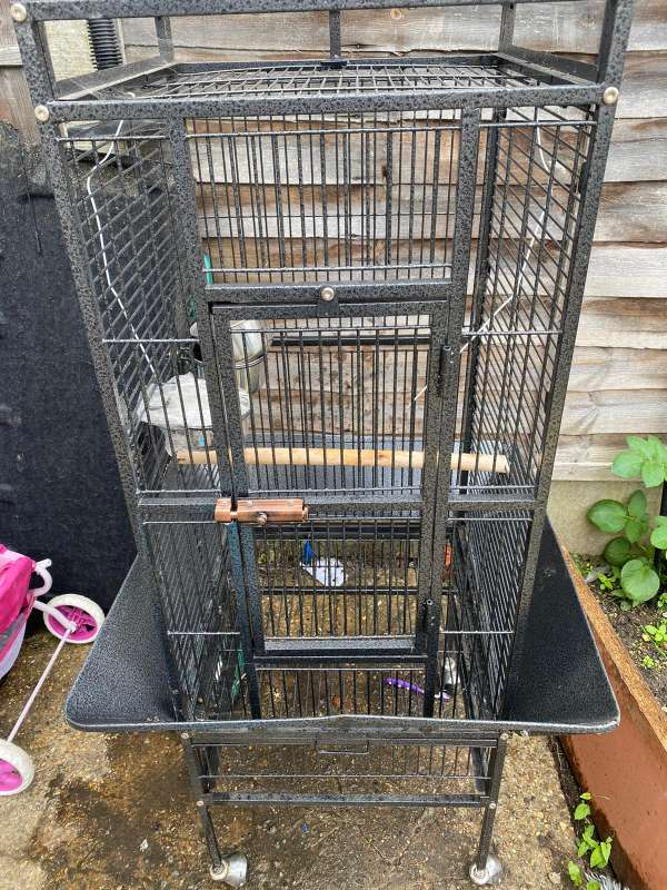 Imagen jaula para pájaro loro o otros