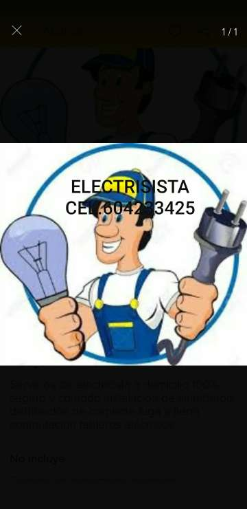 Imagen Electrisista para su hogar Cel.