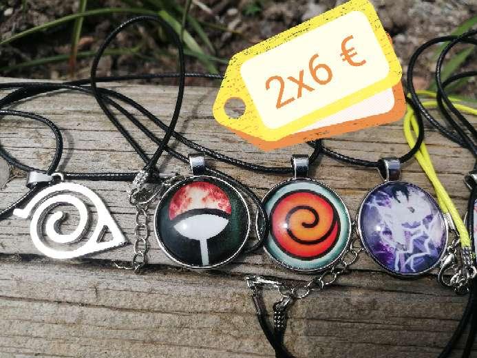 Imagen Oferta collares Naruto, Fairy tale, Boku no hero academia, star wars, minions, death note, ataque a los titanes, señor de los anillos