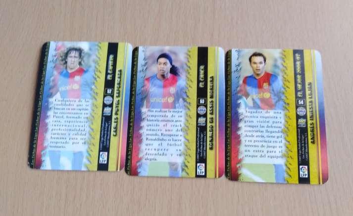 Imagen producto Card Puyol Ronaldinho Iniesta nuevos security.  2