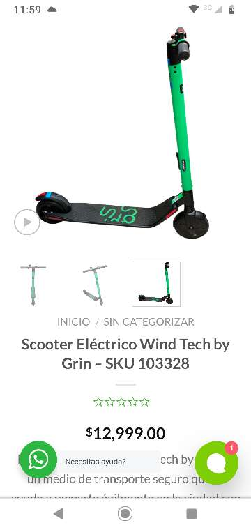 Imagen producto Scooter Eléctrico Wind Tech by Grin 1