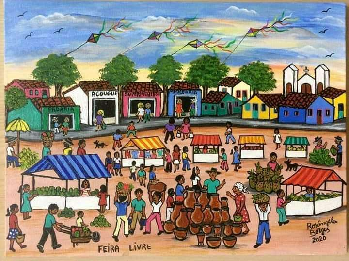 Imagen Feira livre da artista naif Rosângela Borges