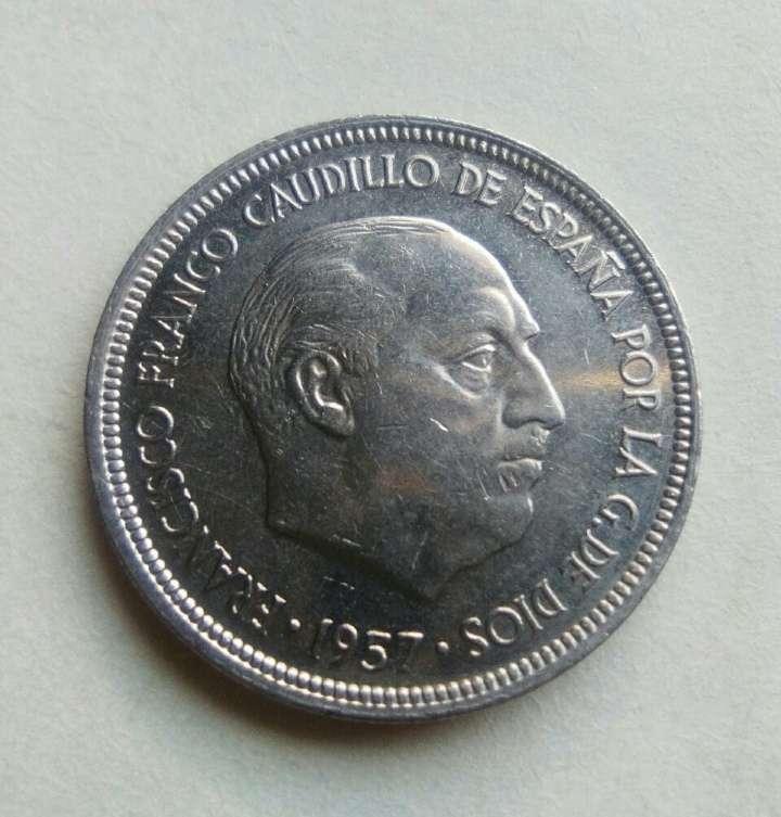 Imagen producto  Moneda de 5 pts de Franco. SC.  2