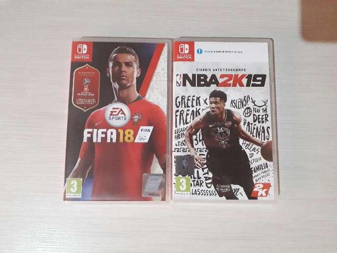 Imagen Juegos de Nintendo Switch Fifa 18 y NBA2K19