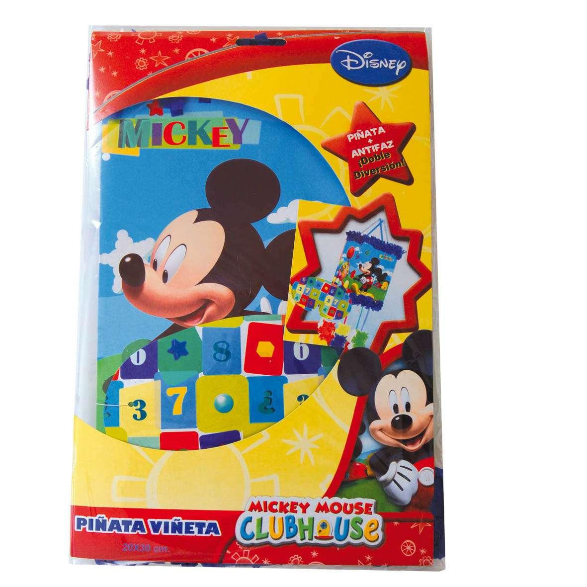Imagen Piñata y antifaz Mickey Disney
