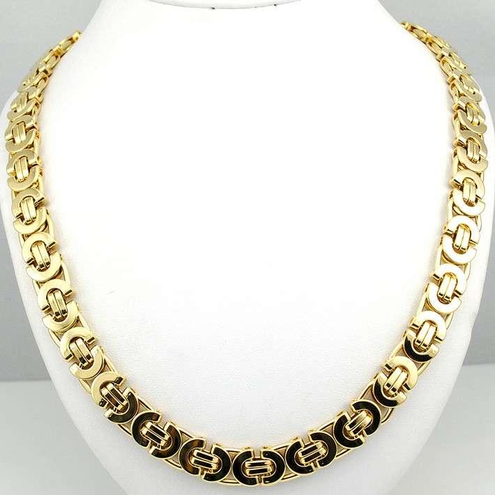 Imagen cadena de acero inoxidable color oro