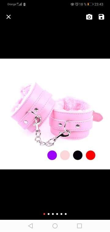 Imagen producto Lenceria esposas pink peluche  1