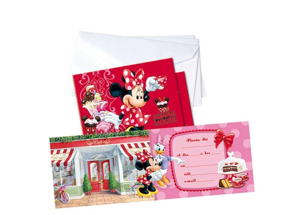 Imagen 6 invitaciones con sobre Minnie Disney