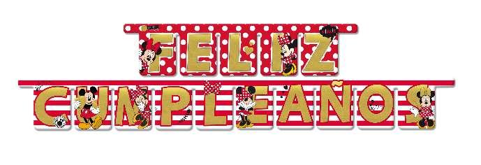 Imagen Guirnalda Feliz cumpleaños Minnie Disney