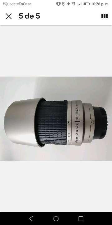 Imagen Nikon AF Nikkor 70-300 mm 1:4-5.6 g lente de zoom/Silver