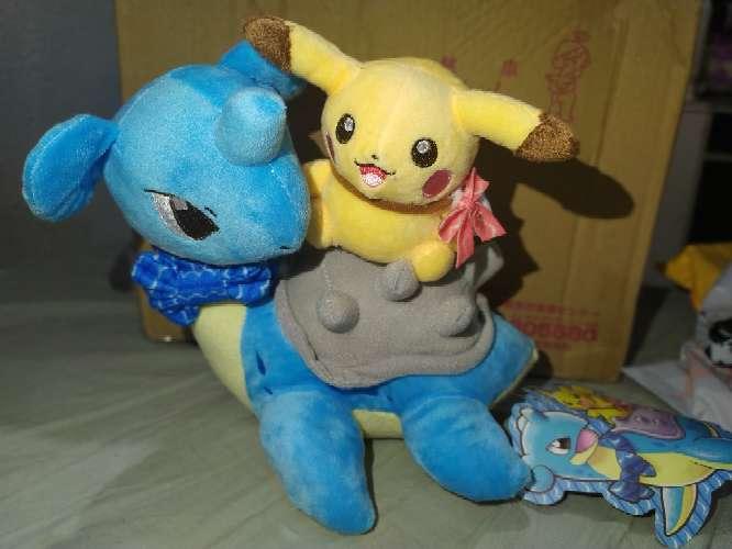 Imagen Peluche Pikachu Y Lapras Pokemon