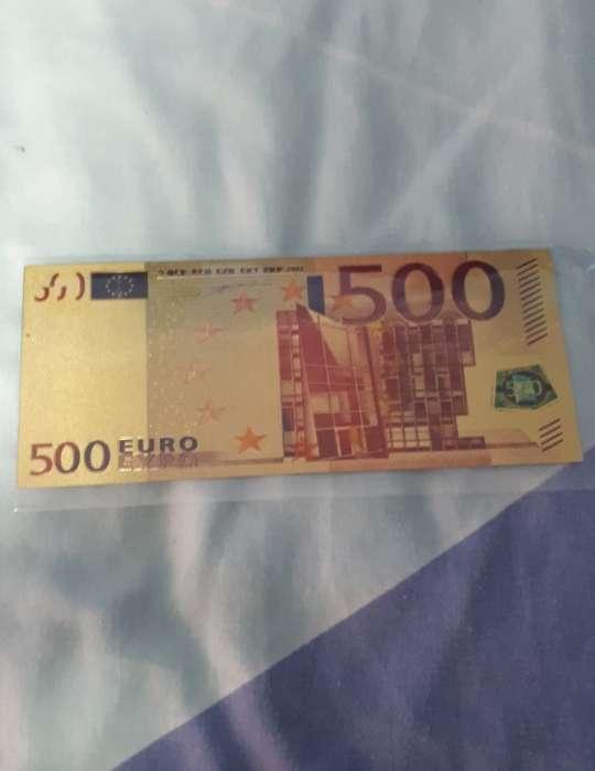 Imagen Lote 2 billetes euros oro