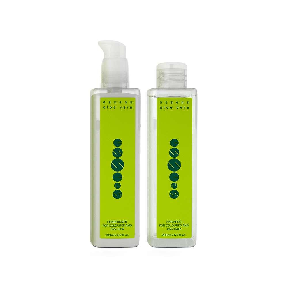 Imagen ESSENS Aloe Vera Hair care set - para cabello teñido y seco