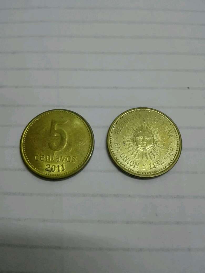 Imagen Moneda Argentina de 5 centavos