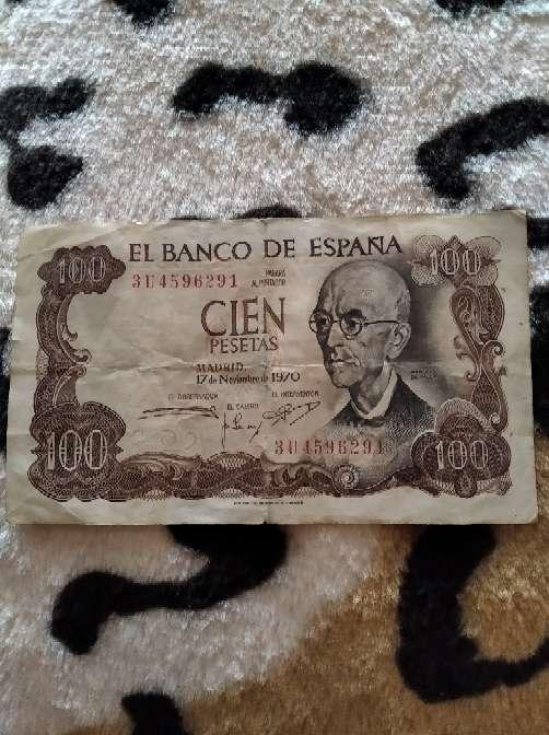Imagen billete 100 pesetas