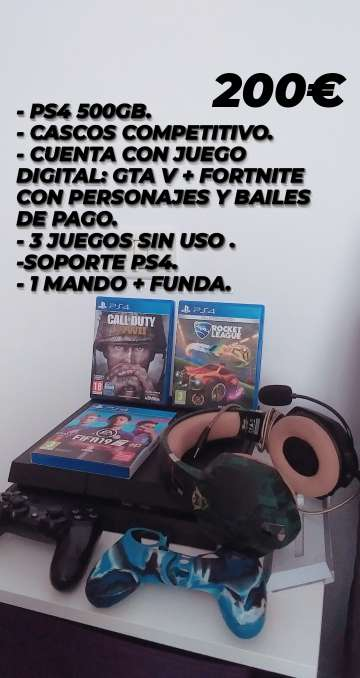 Imagen producto Ps4 + complementos 1
