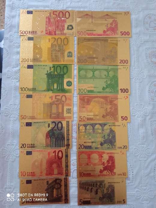 Imagen Euros bañados en oro de 24kl especial para adorno regalo o suerte.