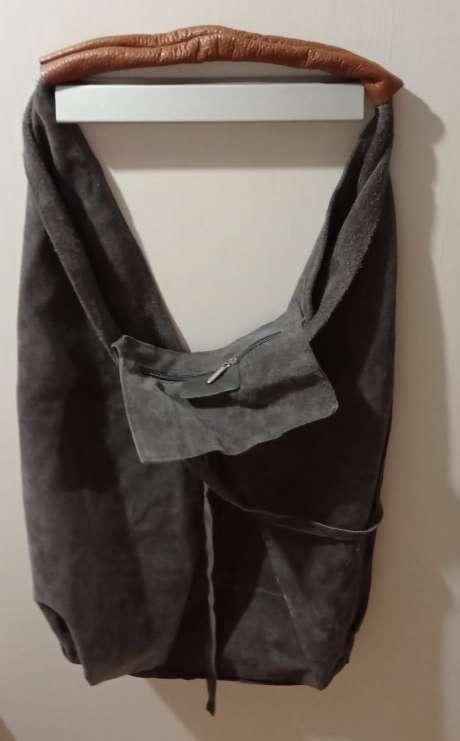 Imagen producto Bolso ante/piel gris 2