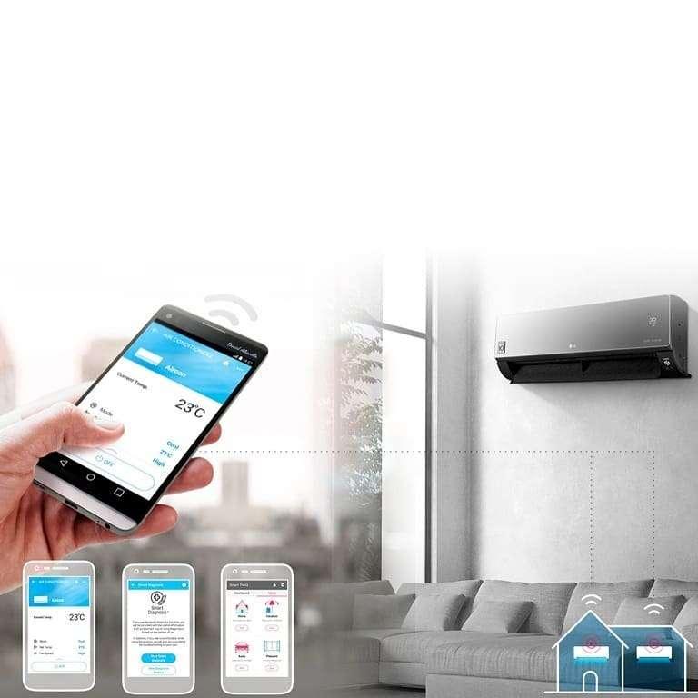 Imagen producto Aire acondicionado LG Dual Cool inverter split frio/calor 5000 frigorias  5