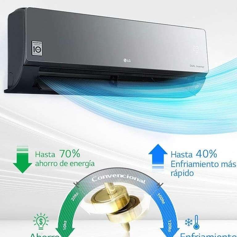 Imagen producto Aire acondicionado LG Dual Cool inverter split frio/calor 5000 frigorias  3