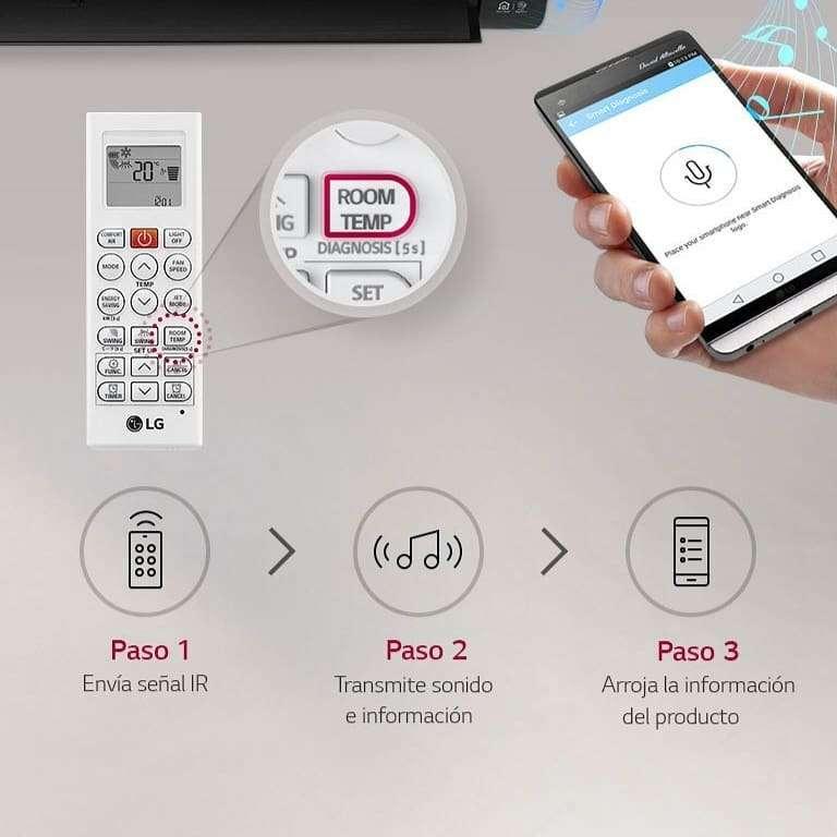 Imagen producto Aire acondicionado LG Dual Cool inverter split frio/calor 5000 frigorias  4
