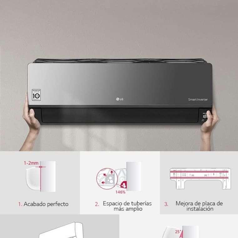Imagen producto Aire acondicionado LG Dual Cool inverter split frio/calor 5000 frigorias  7