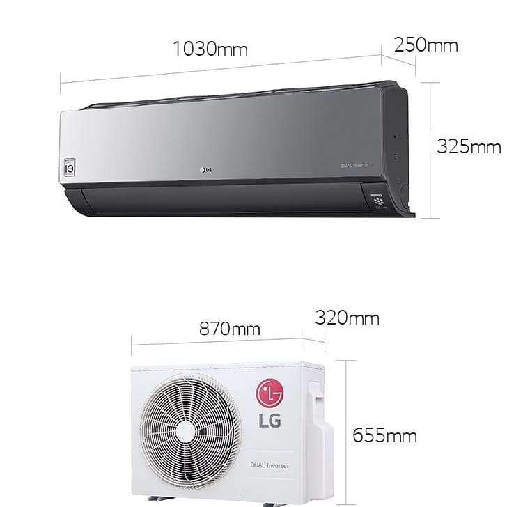 Imagen producto Aire acondicionado LG Dual Cool inverter split frio/calor 5000 frigorias  8