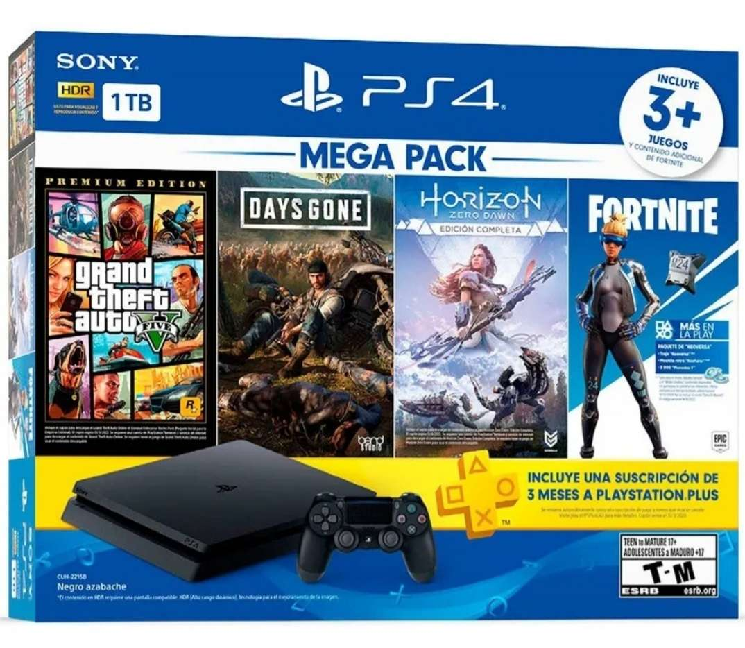 Imagen Consola Playstation 4 1tb Mega Hit Bundle 6 (4 Juegos)