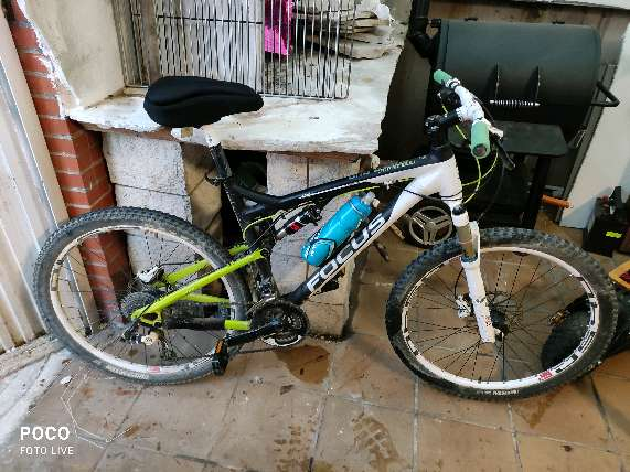 Imagen bicicleta montaña doble