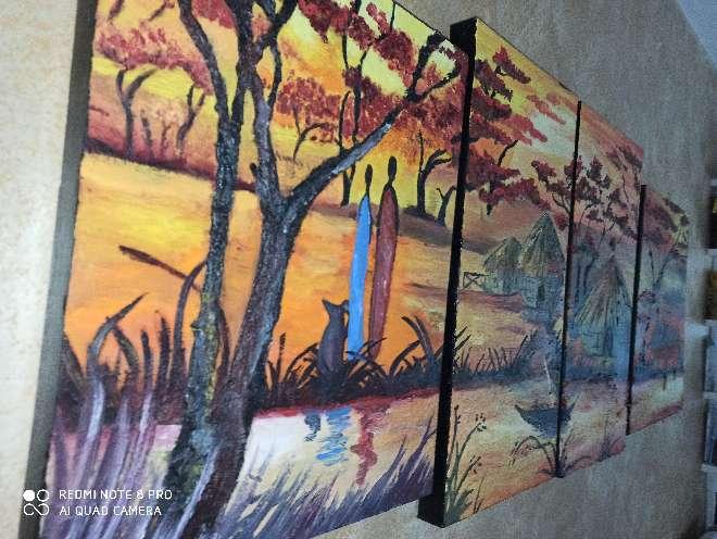 Imagen producto Cuadro pintado a mano y hecho a medida 7