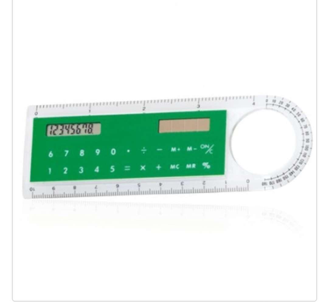 Imagen producto Regla / Calculadora solar / Lupa 3