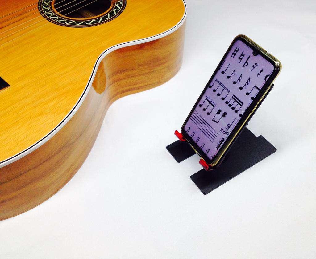 Imagen producto Base soporte para celular o apoya celulares inclinación graduable 2