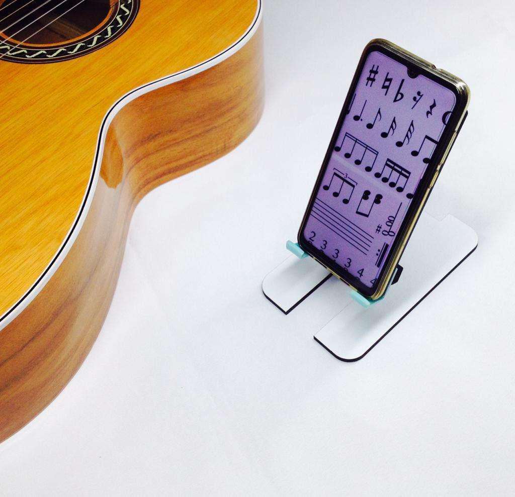 Imagen producto Base soporte para celular o apoya celular de inclinación graduable 2